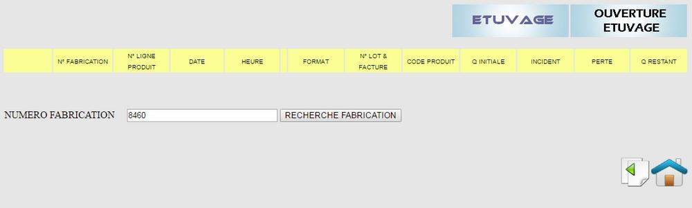 Processus d'étuvage. Recherche fabrication. logiciel de gestion de production Agro-alimentaire Tracei.